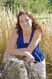 Natuurlijke jonge vrouw stock foto