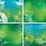 Natuurlijke kadersachtergronden Royalty-vrije Stock Foto's