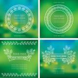 Natuurlijke kadersachtergronden Royalty-vrije Stock Fotografie