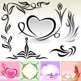 Natuurlijke Kalligrafische Ontwerpen en Decoratie Stock Afbeelding