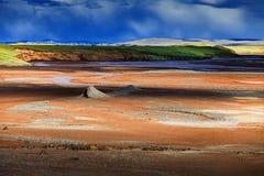 Natuurlijke kleuren van het Plateau qinghai-Tibet royalty-vrije stock foto