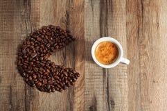 Natuurlijke koffie royalty-vrije stock foto