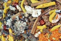 Natuurlijke kruiden en kruiden Stock Afbeelding