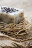 Natuurlijke lavendelzeep stock foto