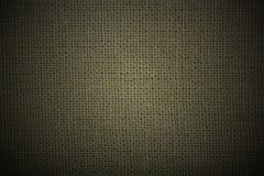 Natuurlijke linnen groene donkere materiële achtergrond Royalty-vrije Stock Afbeelding
