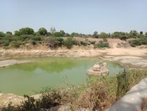 Natuurlijke lndscape echt in India royalty-vrije stock afbeeldingen