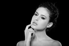 Natuurlijke make-up Royalty-vrije Stock Afbeeldingen