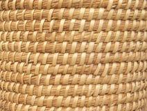 Natuurlijke mand-Weefsel Achtergrond Royalty-vrije Stock Afbeelding