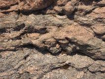 Natuurlijke marmeren stenen in oude kasteelzaal Het vullen met cement in aardige natuurlijke achtergrond Stock Afbeelding