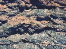Natuurlijke marmeren stenen in oude kasteelzaal Het vullen met cement in aardige natuurlijke achtergrond Royalty-vrije Stock Foto