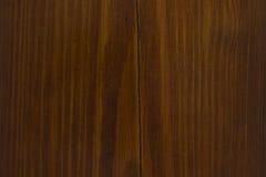 Natuurlijke okkernootwoodgrain textuur met barst Royalty-vrije Stock Fotografie