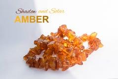 Natuurlijke Oranje Amber Necklace die van Stukken Diverse Vormen wordt gemaakt Royalty-vrije Stock Fotografie