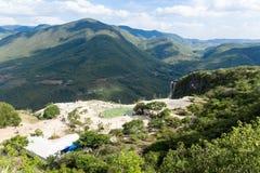 Natuurlijke plaats van agua van Hierve Gr in Oaxaca Mexico royalty-vrije stock fotografie