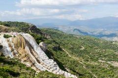 Natuurlijke plaats van agua van Hierve Gr in Oaxaca Mexico royalty-vrije stock foto