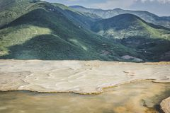 Natuurlijke plaats van agua van Hierve Gr in Oaxaca Mexico stock afbeelding