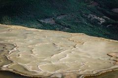 Natuurlijke plaats van agua van Hierve Gr in Oaxaca Mexico royalty-vrije stock afbeelding