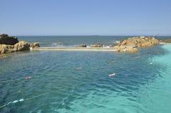 Natuurlijke pool in de Atlantische Oceaan royalty-vrije stock foto's