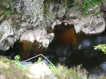 Natuurlijke pool, Randolphs-Sprong, Findhorn-Rivier, Schotland, het UK Stock Foto