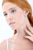 Natuurlijke redhead schoonheid stock foto's