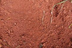 Natuurlijke rode grond stock afbeelding