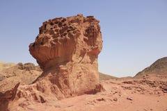 Natuurlijke rotspaddestoel bij Nationaal Park Timna Stock Foto's