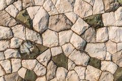 Natuurlijke steenmuur Stock Fotografie