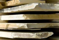 Natuurlijke steenplakken Stock Foto's