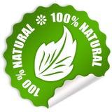 Natuurlijke sticker Stock Foto's