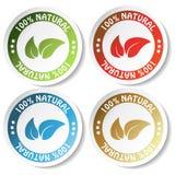 natuurlijke stickers Royalty-vrije Stock Foto's