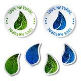 Natuurlijke stickers Stock Afbeeldingen