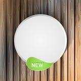 natuurlijke stickers hout Vector Stock Fotografie