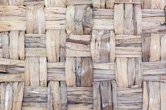 Natuurlijke stro geweven mandtextuur royalty-vrije stock afbeelding