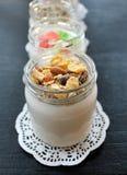 Natuurlijke verse eigengemaakte yoghurt van met de hand gemaakte koemelk Royalty-vrije Stock Foto's