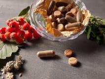 Natuurlijke vitaminen Royalty-vrije Stock Foto