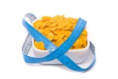 Natuurlijke voeding. Cornflakes. Stock Afbeeldingen