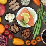 Natuurlijke voeding Hoog in Voedingsmiddelen Royalty-vrije Stock Foto's