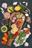 Natuurlijke voeding voor een Gezond Hart royalty-vrije stock afbeelding