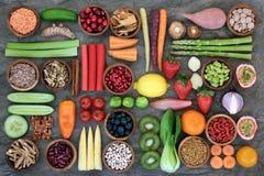 Natuurlijke voeding voor het Gezonde Eten stock afbeelding