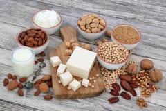 Natuurlijke voeding voor Veganisten stock afbeeldingen