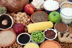 Natuurlijke voeding voor Veganisten royalty-vrije stock foto