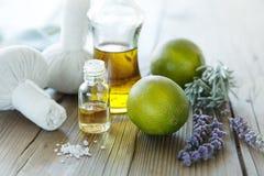 Natuurlijke wellnessproducten stock foto's