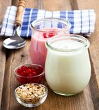 Natuurlijke yoghurt stock afbeelding