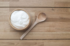 Natuurlijke yoghurt royalty-vrije stock afbeelding