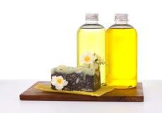 Natuurlijke zeep. Stock Afbeelding
