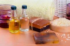 Natuurlijke zeep Stock Foto's