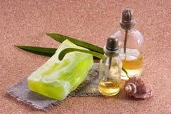 Natuurlijke zeep Stock Afbeelding