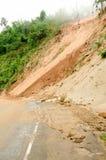 Natuurrampen, grondverschuivingen tijdens het regenachtige seizoen in Thailand Royalty-vrije Stock Afbeeldingen