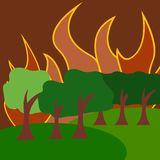 Natuurrampenillustratie Vectorart logo template Royalty-vrije Stock Afbeelding