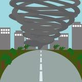 Natuurrampenillustratie Vectorart logo template Stock Foto's