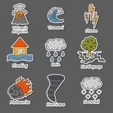 Natuurrampenvoorwerpen royalty-vrije illustratie